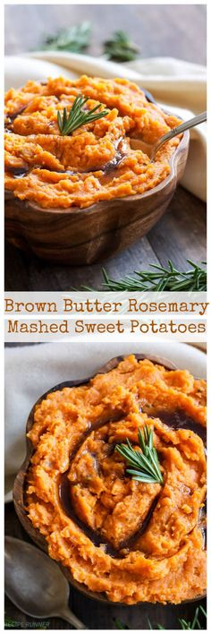 Sweet potatoes with brown butter and rosemary