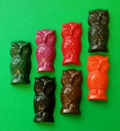 Owl Shaped Crayons For Gifts and Party Favors by KrazyKoolKrayons