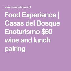 Food Experience   Casas del Bosque Enoturismo $60 wine and lunch pairing