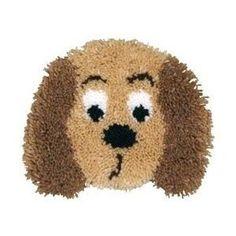 Huggables Pillow Latch Hook Kit - Puppy