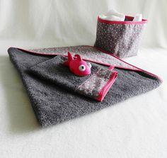Ensemble 0 - 24 mois cape de bain et son gant de toilette : Mode Bébé par lesgaillardizes