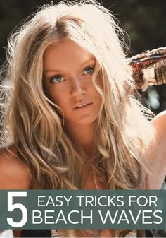 We all want beach waves! Read this article for easy tricks to achieve them.