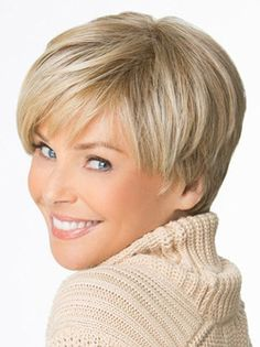 Affordable Cropped Blonde Capless Synthetic Wigs,Capless