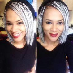 Grey/ Silver Bob Box Braids