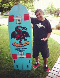 Steve Caballero's Skateboard Surfboard