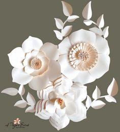 Paper Flower Backdrop, Giant Paper Flowers, Wedding Centerpiece, Paper Flower
