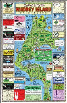 Fun Maps USA - North Whidbey Island, Washington