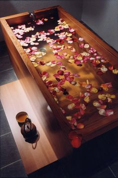 Japanese spa bath