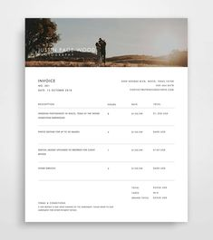 7 best invoice   proforma images on Pinterest   Invoice template     Invoice Photography  Invoice Template  Invoice Template Photography  Photographer  Invoice Photoshop Template  Photography Templates