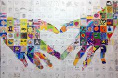 Collaborative Mural, School Murals, Teaching Schools, School Auction, School Resources, Easy Paintings, Art Activities, Community Art, Art Lessons
