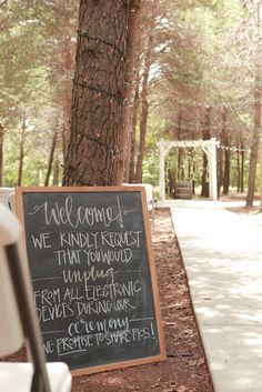Might wanna do this.... Unplugged Wedding Sign + Why I had an Unplugged Wedding