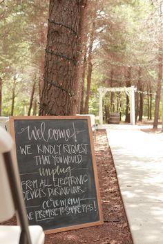 Unplugged Wedding Sign + Why I had an Unplugged Wedding