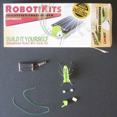 "Does the brightness of light matter when you use solar power? Students can investigate that #science question in the ""The Frightened Grasshopper: Explore Electronics & Solar Energy with a Solar-Powered Robot Bug"" alternative energy and electronics Project Idea. [Source: Science Buddies, http://www.sciencebuddies.org/science-fair-projects/project_ideas/Elec_p061.shtml?from=Pinterest] #STEM #robotics"
