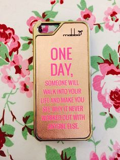 """One day"" quote on our Smartphone case - iPhone 5/5S Case handmade from genuine leather!  Handgemacht aus echtem Leder für iPhone 5/5S & iPhone 4/4S <3"