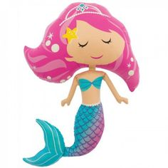 Jumbo Mermaid Foil Balloon available online at Little Boo-Teek! Boutique designer party supplies online! Express Shipping Australia Wide