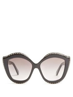 eab46b8d3fd3 Embellished cat-eye acetate sunglasses