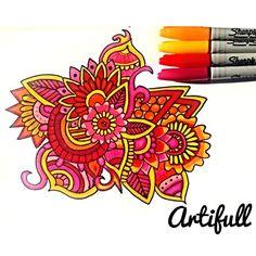 artifull @floral.art  #zentangle #mandala #art…