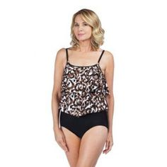 a85ed75e216c2 Maxine of Hollywood Double Tiered Cougar One Piece Java