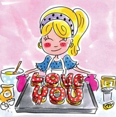 Baking 'love you' - Blond Amsterdam