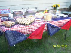 Chuck Wagon table at a cowgirl rodeo party