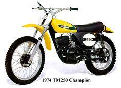 Best dirt bike of the - 1974 Suzuki Champion Cool Dirt Bikes, Mx Bikes, Motocross Bikes, Vintage Motocross, Road Bikes, Suzuki Bikes, Suzuki Motorcycle, Motorcycle Art, Vintage Bikes