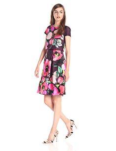 Vince Camuto Women's Short Sleeve Floral Printed Popover Dress, Purple, 10 Vince Camuto http://smile.amazon.com/dp/B00VHX9WLW/ref=cm_sw_r_pi_dp_PGRIvb0YSVGPJ