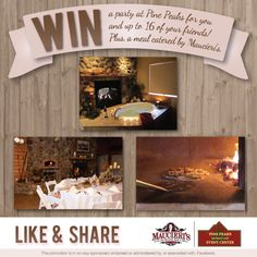 Win a two-night stay at Pine Peaks Retreat & Event Center for you and up to 16 of your friends! Plus a meal will be catered by Maucieri's during your stay using the Mugnaini Wood Burning Oven! Enter Here: https://www.facebook.com/PinePeaksRetreat