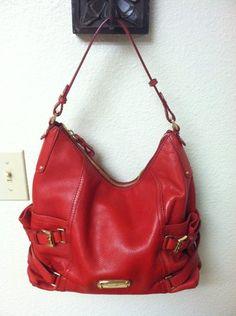 Micheal Kors Red Hobo Handbag Nwot Beautiful Red Purse