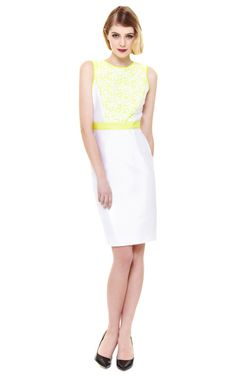 Shop Embroidered Panel Cocktail Dress by Prabal Gurung Now Available on Moda Operandi