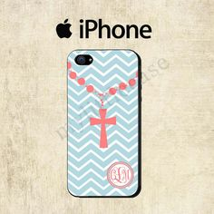 Blue Chevron Cross iPhone 4 Case iPhone 5C Case by mylittlecase