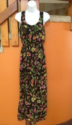 PHILOSOPHY, Black Floral Maxi Dress, Retails $98 #Philosophy #Maxi #Cocktail