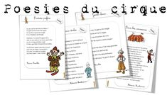 Poésies cirque ...suite - Bout de gomme Voici, Log Projects, Circus Crafts, Nursery Rhymes, Thank You So Much, Camper Trailers