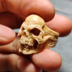 Deer Antler Demon Skull Ring – Holy Buyble