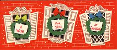 A wish for you at Christmas. #vintage #Christmas #cards