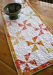 pinwheels quilted table runner table topper featuring