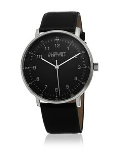 Shop for August Steiner Men's Swiss Quartz Leather Black Strap Watch. Get free delivery On EVERYTHING* Overstock - Your Online Watches Store! Cool Watches, Watches For Men, Wrist Watches, Comme Des Garcons, Classic Man, Quartz Watch, Gadgets, Mens Fashion, Accessories