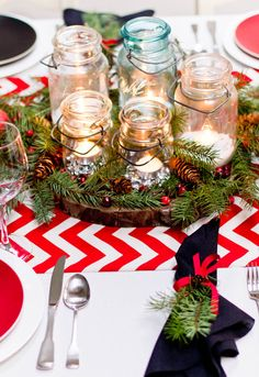 Winter Tablescape eclectic dining room