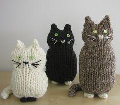Punto de gatos por handknittedthings en Etsy