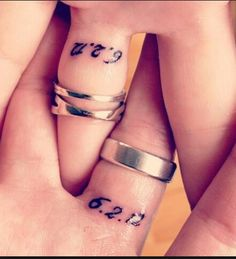 Tattooed Wedding Date Under Your Wedding Rings For Your Anniversary Present To Each Other.