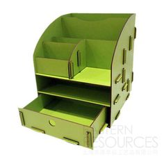 Fantastic DIY Stationary Storage....intersting shape. Cut out using a laser cutter.