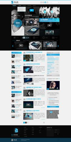 I like this website design, because it sticks to a color scheme of black, white and blue. I think keeping the colors neutral, cool and simple keep the content from seeming too overwhelming.