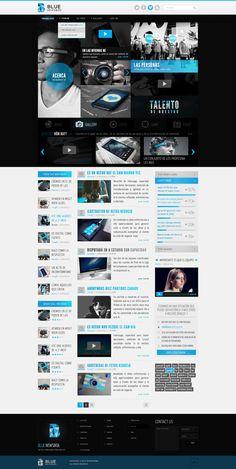 Blue on Web Design Served | Website design layout. Inspirational UX/UI design samples.  Visit us at: www.sodapopmedia.com #WebDesign #UX #UI #WebPageLayout #DigitalDesign #Web #Website #Design #Layout