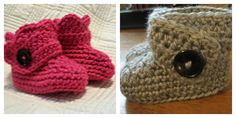 Crochet Baby Booties. $15.00, via Etsy.