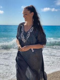 Kaftan By Mat. fashion Real Size Plus Size Fashion #matfashion #matfashionistas #matstyle #therealyou #realsize #realwomen #loveyourcurves #bodypositive #bodypositiveinfluencer #bodypositivity #SpringSummer2020 #ss2020 #collection #fashion #stylebeyondsize #beach #sea #summerstyle #resort #greeksummer Mat Fashion, Real Women, Kaftan, Plus Size Fashion, Curves, Cover Up, Spring Summer, Sea, Collection