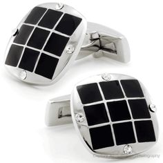 Nine Squares and Diamonds Cufflinks by Cufflinksman #Cufflinks #Fashion #Jewelry #shopping