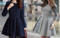 Patrón de vestido de invierno