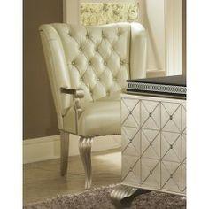 Marvelous AICO Hollywood Swank Desk Chair By Michael Amini