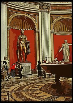 Rome - Vatican Museum - Red Roman Room #Rome #Italy #Vatican #Travel #Europe