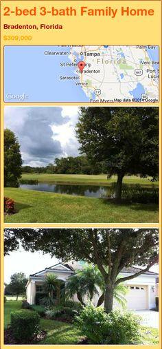 2-bed 3-bath Family Home in Bradenton, Florida ►$309,000 #PropertyForSale #RealEstate #Florida http://florida-magic.com/properties/88732-family-home-for-sale-in-bradenton-florida-with-2-bedroom-3-bathroom