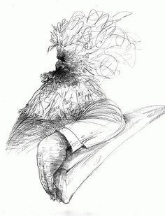 Karl Marx sentado en un sillón. #portrait #caricature #pencil #illustration